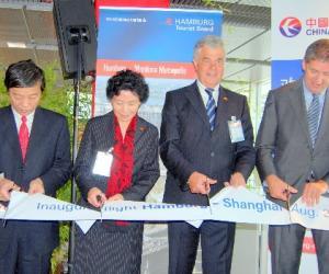 东航为上海--汉堡搭起空中桥梁--新航线首航欢迎庆典隆重热闹