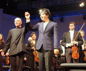 """""""石荷州中国音乐节""""闭幕式  中国钢琴家郎朗获得德国勋章"""