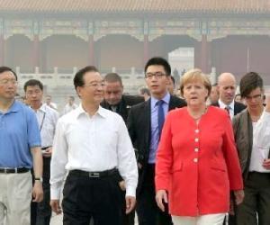德国总理默克尔率庞大代表团第六次访华